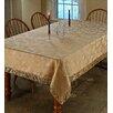 Violet Linen Classic Damask Design Fringes Tablecloth