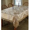 Violet Linen Majestic Damask Tablecloth