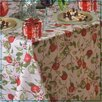 Violet Linen European Orchards Fruits Vintage Design Printed Tablecloth