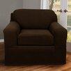 Maytex Pixel Stretch 2 Piece Chair Box Cushion Slipcover