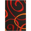 Acura Rugs Contempo Black/Red Area Rug
