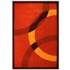 Acura Rugs Contempo Dark Orange/Yellow Area Rug