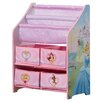 Delta Children Disney Princess Book & Toy Organizer