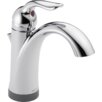 Delta Lahara Single handles Centerset Standard Bathroom Faucet with Single Handle and Diamond Seal Technology