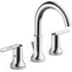 Delta Trinsic Two Handle Widespread Lavatory Faucet with Metal Pop-up