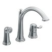 Moen Savvy Single handle Widespread Kitchen Faucet with Convenient Side Spray