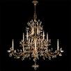 Fine Art Lamps Crystal Laurel Gold 20 Light Chandelier