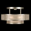 Fine Art Lamps Singapore Moderne Silver 3 Light Semi Flush Mount