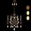 Fine Art Lamps Encased Gems 6 Light Chandelier