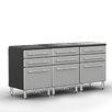 Ulti-MATE Garage PRO 3' H x 6' W x 2' D 3-Piece Base Cabinet Set