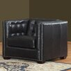 Lazzaro Leather Belaire Leather Arm Chair