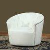 Lazzaro Leather Monroe Tufted Swivel Tub Arm Chair