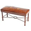 New World Trading Fernando Calf Roper Leather Entryway Bench
