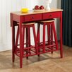 InRoom Designs 3 Piece Pub Table Set