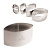 """Paderno World Cuisine 2.13"""" Stainless Steel Calisson Cutter (Set of 3)"""