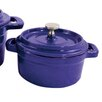 Paderno World Cuisine Cast Iron Round Mini Dutch Oven (Set of 2)