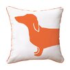 Naked Decor Hot Dog Happy Cotton Throw Pillow