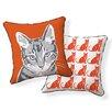 Naked Decor Little Cat Throw Pillow