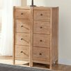 American Woodcrafters Natural Elements 4 Drawer Nightstand (Set of 2)