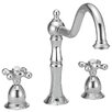 Belle Foret Two Handle Widespread Kitchen Faucet with Metal Cross Handles