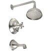 Belle Foret Diverter Tub/Shower Faucet Trim  Set with Cross Handle