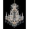 Schonbek Maria Theresa 8 Light Crystal Chandelier