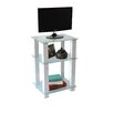 RTA Home And Office White Lines TV Stand