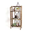 """RTA Home And Office Haven Foldable Rustic Shelf 51"""" Standard Bookcase"""