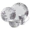 BonJour Shaded Garden 16 Piece Porcelain Dinnerware Set