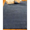 Natural Area Rugs Wool Petra Navy Area Rug
