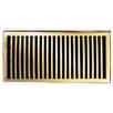 "Brass Elegans 7"" x 13"" Solid Cast Brass Floor Register Trim in Polished Brass"