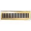 "Brass Elegans 3"" x 11"" Solid Cast Brass Floor Register Trim in Polished Brass"
