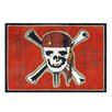 G.A. Gertmenian & Sons Pirate 3 Red Skull Red Area Rug