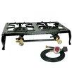 Buffalo Tools Sportsman Series Double Burner Cast Iron Stove with Regulator Hose