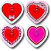 Shape Valentine Hearts Sticker