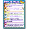 Frank Schaffer Publications/Carson Dellosa Publications How to Pray for Kids Poster (Set of 3)
