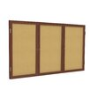 Ghent 3 Door Enclosed Bulletin Board