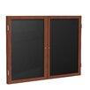 Ghent 2-Door Wood Frame Enclosed Flannel Letter board, 4' x 5'