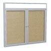 Ghent 2 Door Outdoor Enclosed Bulletin Board, 4' x 5'