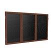 Ghent 3-Door Wood Frame Enclosed Letter board