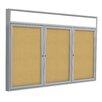 Ghent 3 Door Enclosed Bulletin board, 4' x 6'
