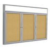 Ghent 3-Door Aluminum Frame Enclosed Bulletin Board