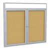Ghent 2 Door Enclosed Bulletin Board, 3' x 5'