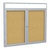 Ghent 2-Door Aluminum Frame Enclosed Bulletin Board