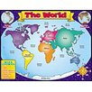 Teachers Friend World Map Friendly Chart 17x22 (Set of 3)