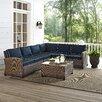 Crosley Bradenton 5 Piece Deep Seating Group with Cushions