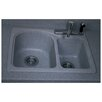 "Swanstone Swanstone Classics 25"" x 18"" Space Saver Double Bowl Kitchen Sink"