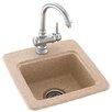 "Swanstone Swanstone Classics 15"" x 15"" Small Bar Sink"