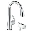 Grohe LadyLux3 Single Handle Single Hole Kitchen Faucet with Grohtherm Micro