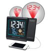 "La Crosse Technology 5"" LCD Projection Alarm Clock with Moon Phase"